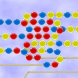 Beadz - Beadz is a classic marble-shooting game! Make sets of three or more by shooting into the line, but don't let a chain reach the end. Play FREE! - logo