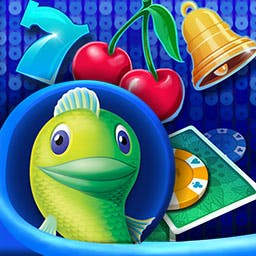 Big Fish Casino - Bring Las Vegas home with Big Fish Casino! Play Slots, Blackjack, Texas Hold'em Poker, Video Poker, Roulette and Word Ace today! - logo