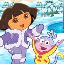 Dora Saves the Snow Princess - logo