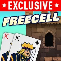 FreeCell Solitaire with Themes - Play FREE! Choose a theme, and make it YOUR game. Go from Aces to Kings in the classic card game FreeCell Solitaire! - logo