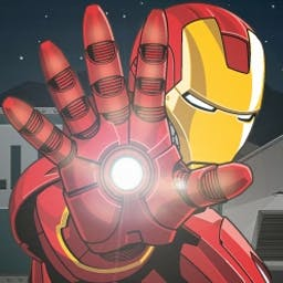 Iron Man: Assault on A.I.M. - Iron Man's routine inspection turns up a major threat from the forces of A.I.M. Infiltrate and stop them in Iron Man: Assault on A.I.M.! - logo