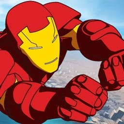 Iron Man Flight Test 2 - Tony Stark must don his Iron Man suit to save the city from Mandarin's army of villainous robots. Help him take the fight to Mandarin! - logo