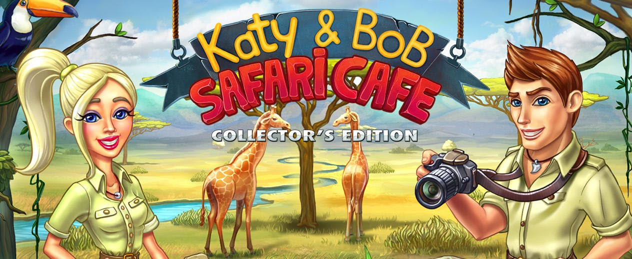 Katy and Bob Safari Cafe Collector's Edition - Set off to the island to strike it rich - image