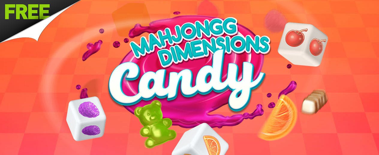 Mahjongg Dimensions Candy - Can you finish all the levels?