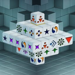 Cash Tournaments - Mahjongg Dimensions - Get ready for a new dimension of fun with this 3-D version of the tile-matching classic! Play the Tournament edition of Mahjongg Dimensions today! - logo