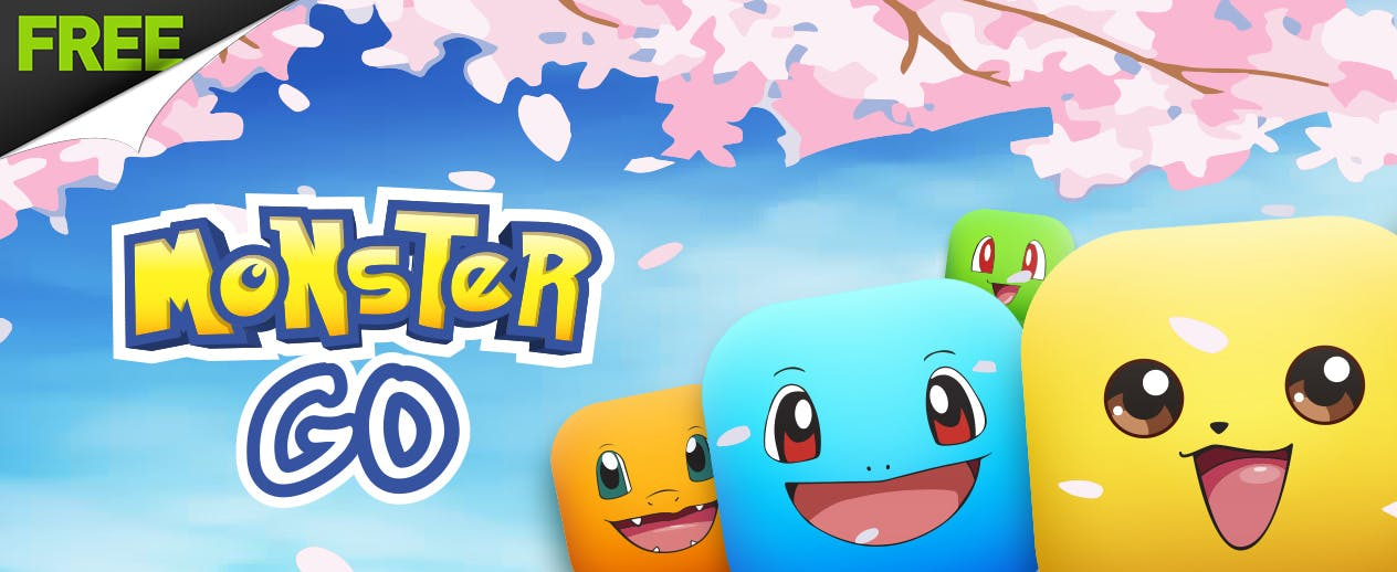 Monster Go - Connect pairs of colorful Poke monsters