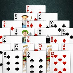Pyramid Solitaire Silver - Play Pyramid Solitaire today and experience the mind-bending challenge! - logo