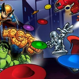 Skrull Invasion - The Skrulls are invading Super Hero City! Gather the team and Hero Up! to defeat them using your matching skills. - logo
