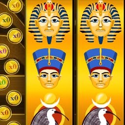 Slots: Golden Pharaoh - Play our Golden Pharaoh slot machines to feel the pull of the one-armed bandit in a totally FREE game. Win big with these animated slots! - logo