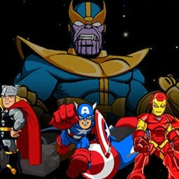 Super Hero Squad: Infinity Racers - Thanos is holding a racing competition and the Super Hero Squad must race to victory to win the Infinity Stones! - logo