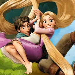 """Tangled: Double Trouble - In Tangled: Double Trouble, help Flynn get Rapunzel to the castle! Watch out for the guards and collect Flynn's """"Wanted"""" posters along the way. - logo"""