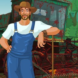 Texas Farm Thrasher - A bunch of thugs are out to destroy your farm. Hit 'em hard to teach them a lesson in Texas Farm Thrasher. Play FREE now! - logo