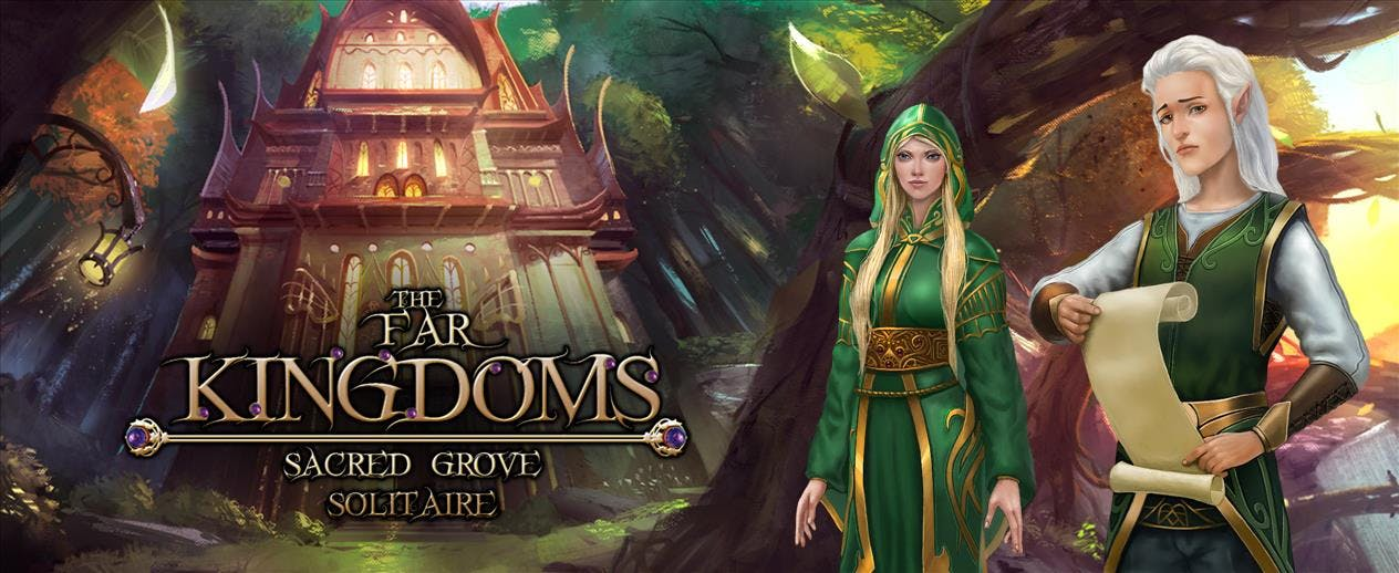 The Far Kingdoms: Sacred Grove Solitaire - Use the magic cards!