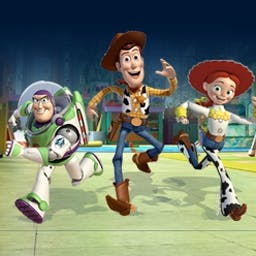Toy Story: Toy's Daycare Dash - In Toy Story 3 Day Care Dash, help Woody find his friends at Sunnyside! Collect stars and explore the rooms. - logo
