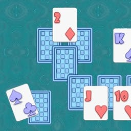 TriPeakz - What will your score be?  Remove the cards on top to reveal the cards below in this fun version of Solitaire!  Play TriPeakz for FREE! - logo
