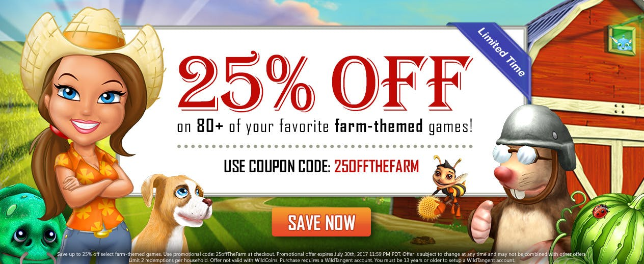 Farm-Themed Sale - 25% off Farm-Themed Games! - image