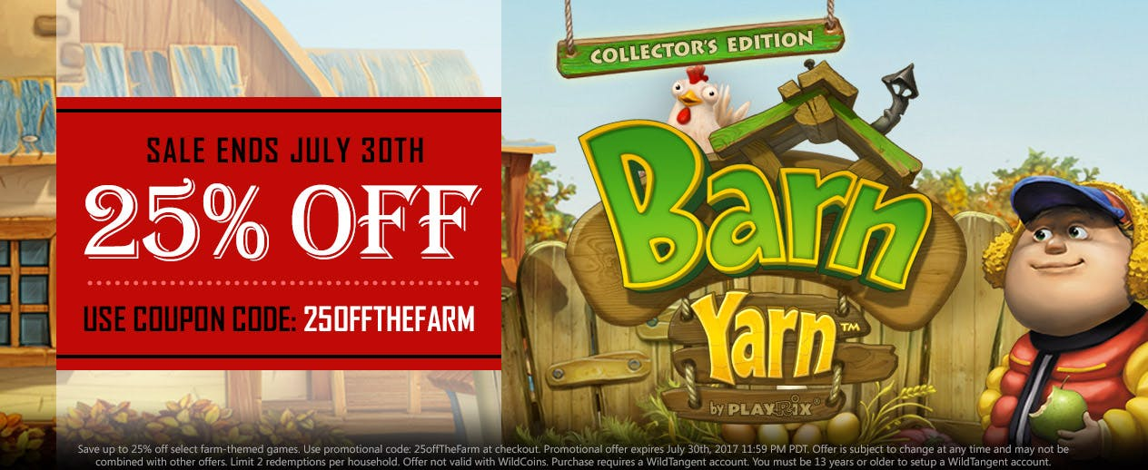 25% off with coupon: 25offTheFarm