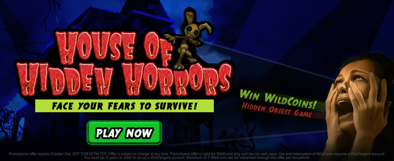House of Hidden Horrors Hidden Object - Play our Hidden Object Game and Win WildCoins! - image