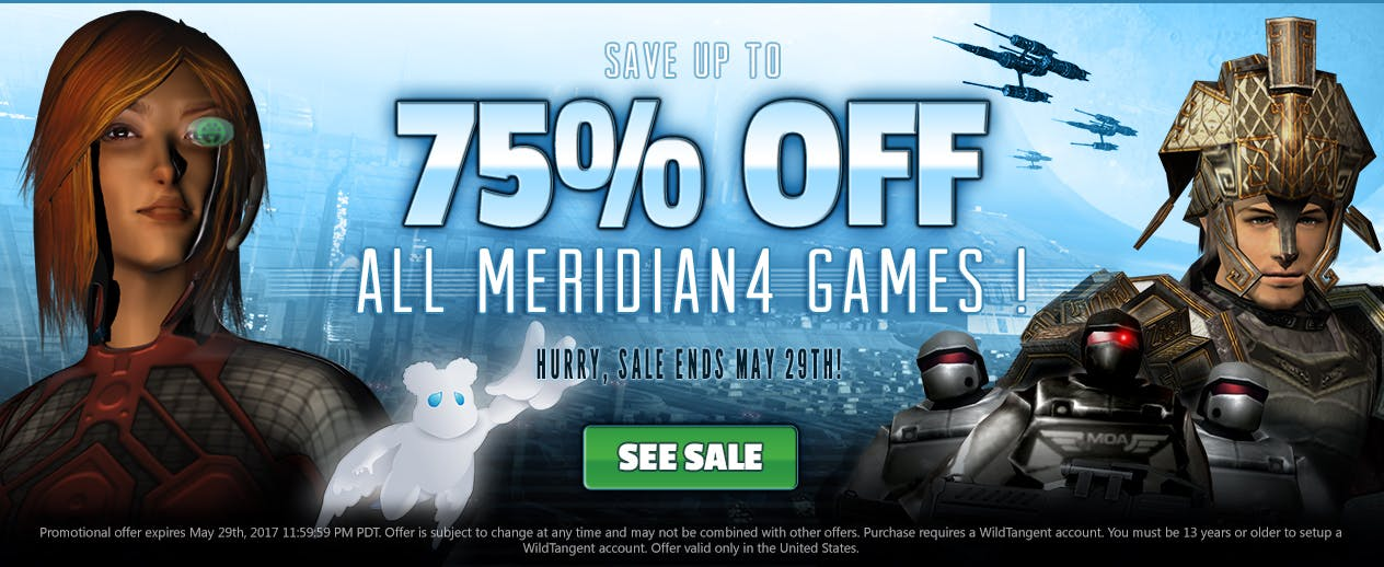 Save up to 75% off ALL Meridian4 Games