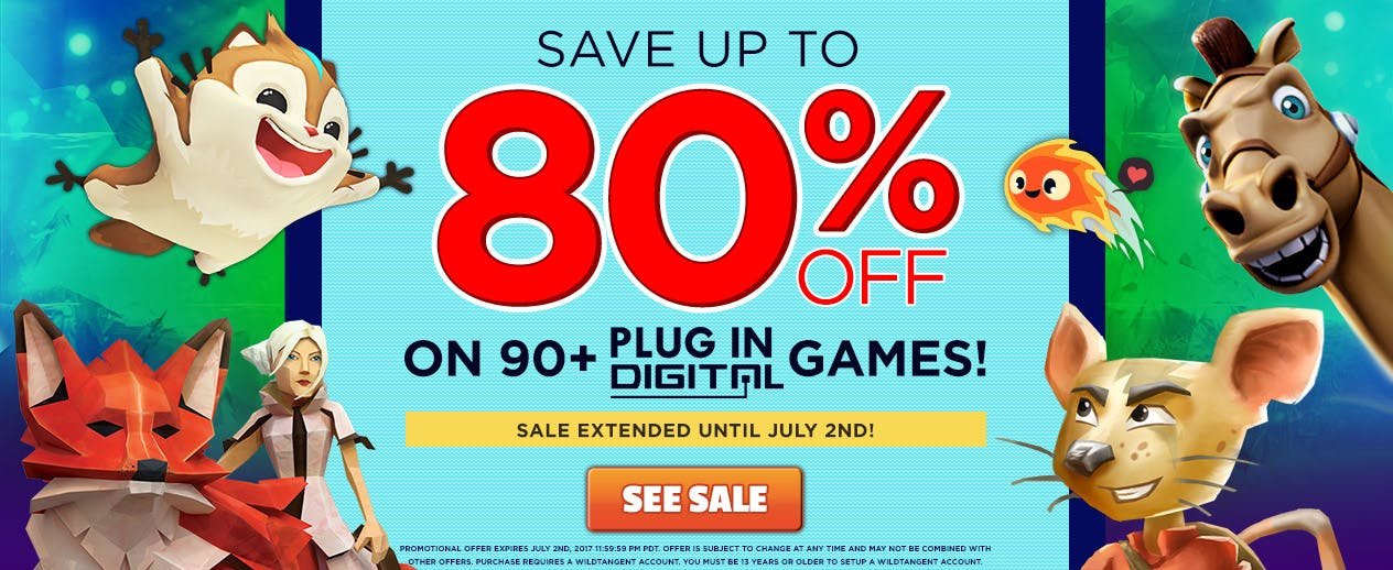 Save up to 80% on 90+ Plug In Digital Games!