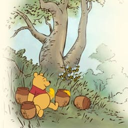 Winnie the Pooh: Honey Harvest - In Winnie the Pooh: Honey Harvest, help Pooh find a tail for Eeyore. Along the way, fill up your honey pot, but avoid the bees! - logo