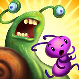 Ant Raid - Take control of your ant hordes, defend the nest and defeat all that Mother Nature throws at you!  Play the award-winning mobile game, Ant Raid! - logo