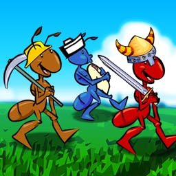 Ant War - In the strategy game Ant War, you'll grow your simple anthill into an amazing ant empire! - logo