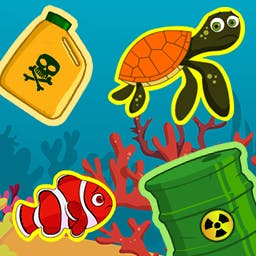 Aqua Rescue - The Pacific is full of pollution — it's time for an Aqua Rescue! Clear the trash and help the trapped fish with your match 3 skills! - logo