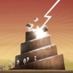 BABEL Rising - Your arrogant human creations think they can build a tower to reach the sky! As their divine creator you will show them who's boss in BABEL Rising. - logo