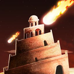 BABEL Rising: Cataclysm - Using your mighty powers, stop the workers before they can complete the tower in BABEL Rising Cataclysm!  The sky belongs to you! - logo