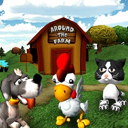 Barnyard Mahjong 2: Around the Farm - Take a spin around the farm!  Match cute, farm-themed tiles in 3-D layouts in Barnyard Mahjong 2: Around the Farm. - logo