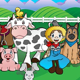 Barnyard Mahjong HD - ¡A tus hijos les encantará este gracioso juego de hacer coincidir piezas con animales de granja!  ¡Tus hijos harán coincidir piezas con una temática de granja en un instante con Barnyard Mahjong! - logo