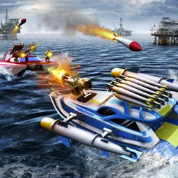 Battle Boats 3D - Battle Boats 3D welcomes you to a ruthless world of post-apocalyptic war! Join a clan and start the fight for land in this mobile game. - logo