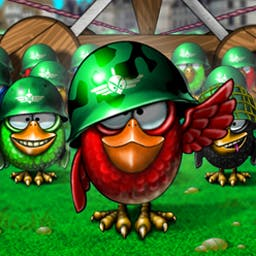 Bird's Town - What does it take to build a Bird's Town? Why, nothing special at all! Make matches of three or more same-colored birds to collect them. - logo