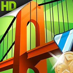 Bridge Constructor Playground - With a friendly tutorial and 160 challenges, this game is perfect for new and experienced players.  Start building with Bridge Constructor Playground! - logo