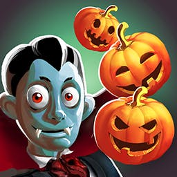 Bubble Double halloween - It's always Halloween when you play the charming match 3 game Bubble Double Halloween! - logo
