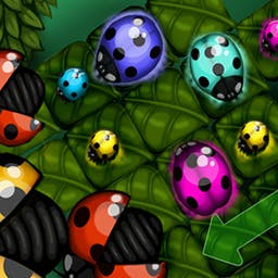 Bug Quest - In Bugquest, you'll move ladybirds of the same color next to each other, while trying to avoid any extra moves! Play Bugquest on Android today! - logo