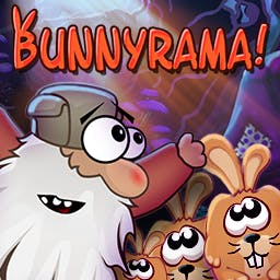 Bunnyrama - Bunnyrama is an unique and challenging puzzle adventure game where your goal is to lead the old man through the magical forest full of huge bunnies. - logo