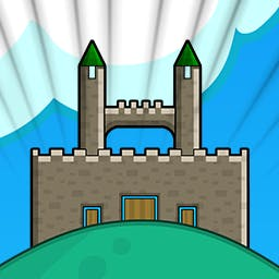 Castle - In Castle, a fun puzzle-arcade-strategy game, you'll build dream castles for royalty and protect the buildings from baddies! - logo