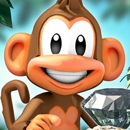 Chimpact - Prepare for Chimpact!  Collect gems, medallions and bananas by chucking your chimp through stunning jungle landscapes. - logo