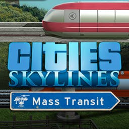 Cities: Skylines - Mass Transit (DLC) - Mass Transit is the latest expansion for Cities: Skylines, the award-winning city-building game. - logo