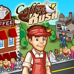 Coffee Rush - Take back the town by opening the coolest coffee shop yet. - logo
