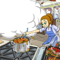 Cooking Dash - Flo™ takes us behind the grills of DinerTown™ restaurants in Cooking Dash! - logo