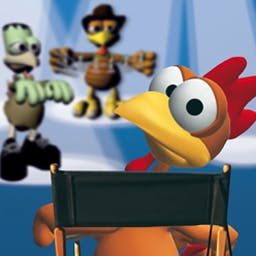 Crazy Chicken Director's Cut - Crazy Chicken Director's Cut is a wacky shooter game that features riddles from popular blockbusters! - logo