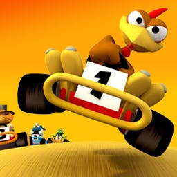 Crazy Chicken Kart 2 - Crazy Chicken Kart 2 is a fun cart racing game for the whole family! - logo
