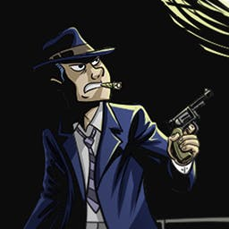 Crime Solitaire 2: The Smoking Gun - Help Max Stone stop Evergreen Heights' 1935 crime wave in Crime Solitaire 2: The Smoking Gun, a clever card game. - logo