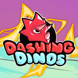Dashing Dinos - Dashing Dinos is a fast-paced, physics-based, local multiplayer game. - logo