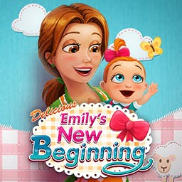Delicious: Emily's New Beginning - Play the time management game Delicious: Emily's New Beginning and fall in love with the newest member of the family! - logo