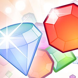 Diamonds Capture - Swap diamonds to drop them down and paint the gaming area in your colors. Big combos - big scores!  Play Diamonds Capture today! - logo