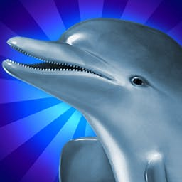 Dolphins Dice Slots - Dolphins Dice Slots is a fun dolphin-themed slots game that includes three different free games and the crabby Crab-Pot Jackpot. - logo